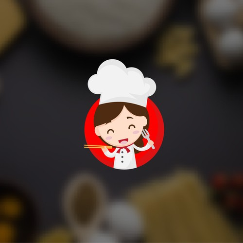 Fun and Cute logo for Cooking East 2 West Youtube channel