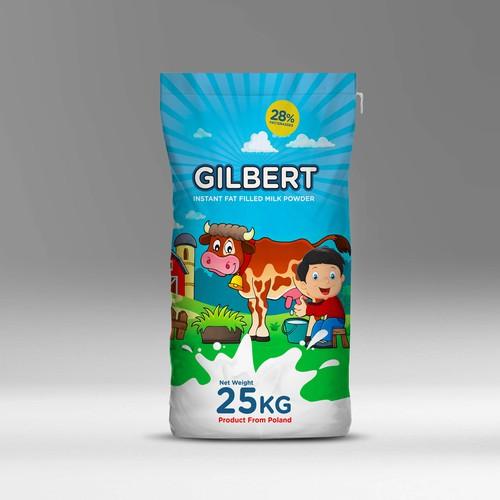 Design packing new milk powder brand Gilbert