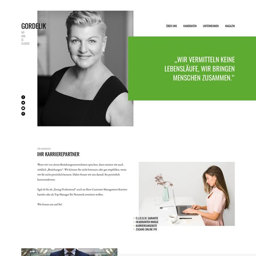 Website Design for Gordelik