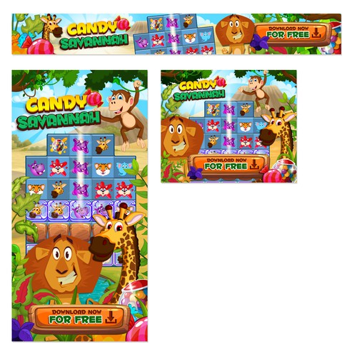 Candy Savannah Banner Ads Design