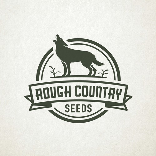 Classic styled logo for a seed company