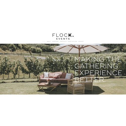 Squarespace Redesign for Flock Events