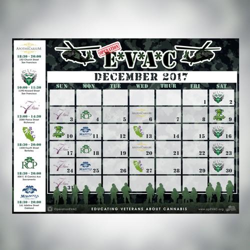 Operation EVAC Calendar