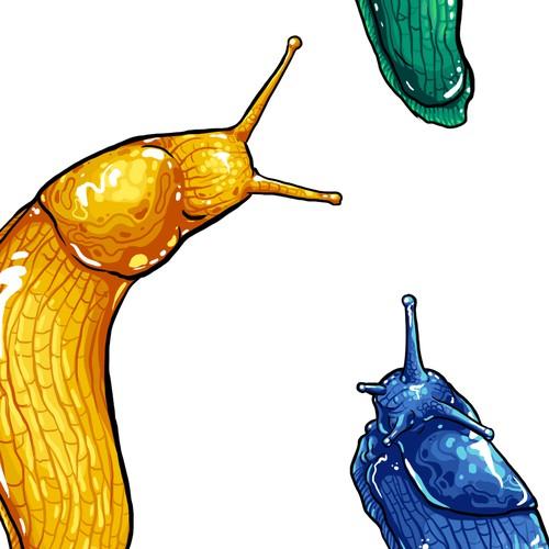Banana slug tattoo design
