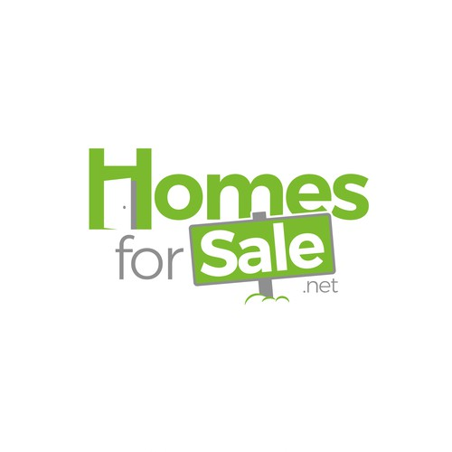 Logo for  a home listing service in addition to helpful information about buying and selling homes