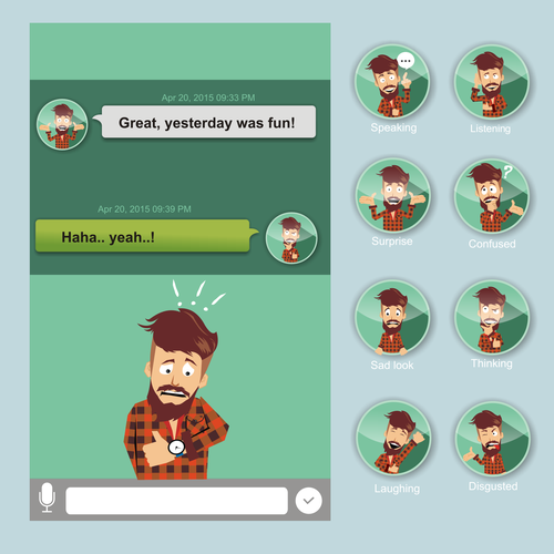 Illustrate and Animate a character for an iPhone app, new in 2015!