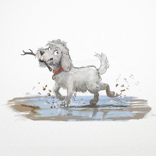 Naughty dog for children's book