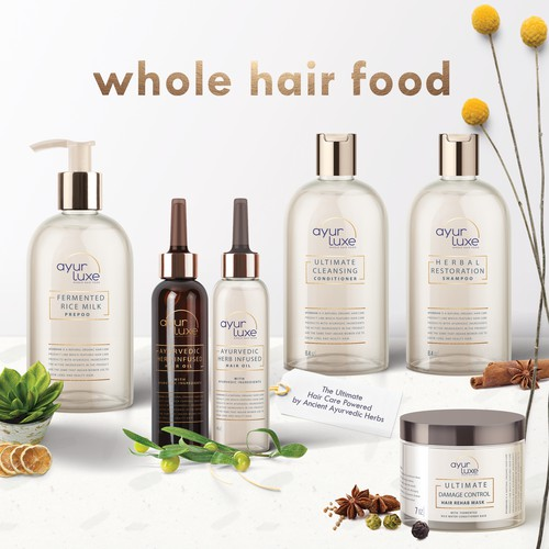 Natural hair care product line