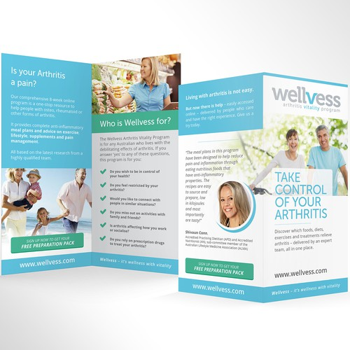 Adapt existing webdesign to print brochure (DL 4pp, print ready files)