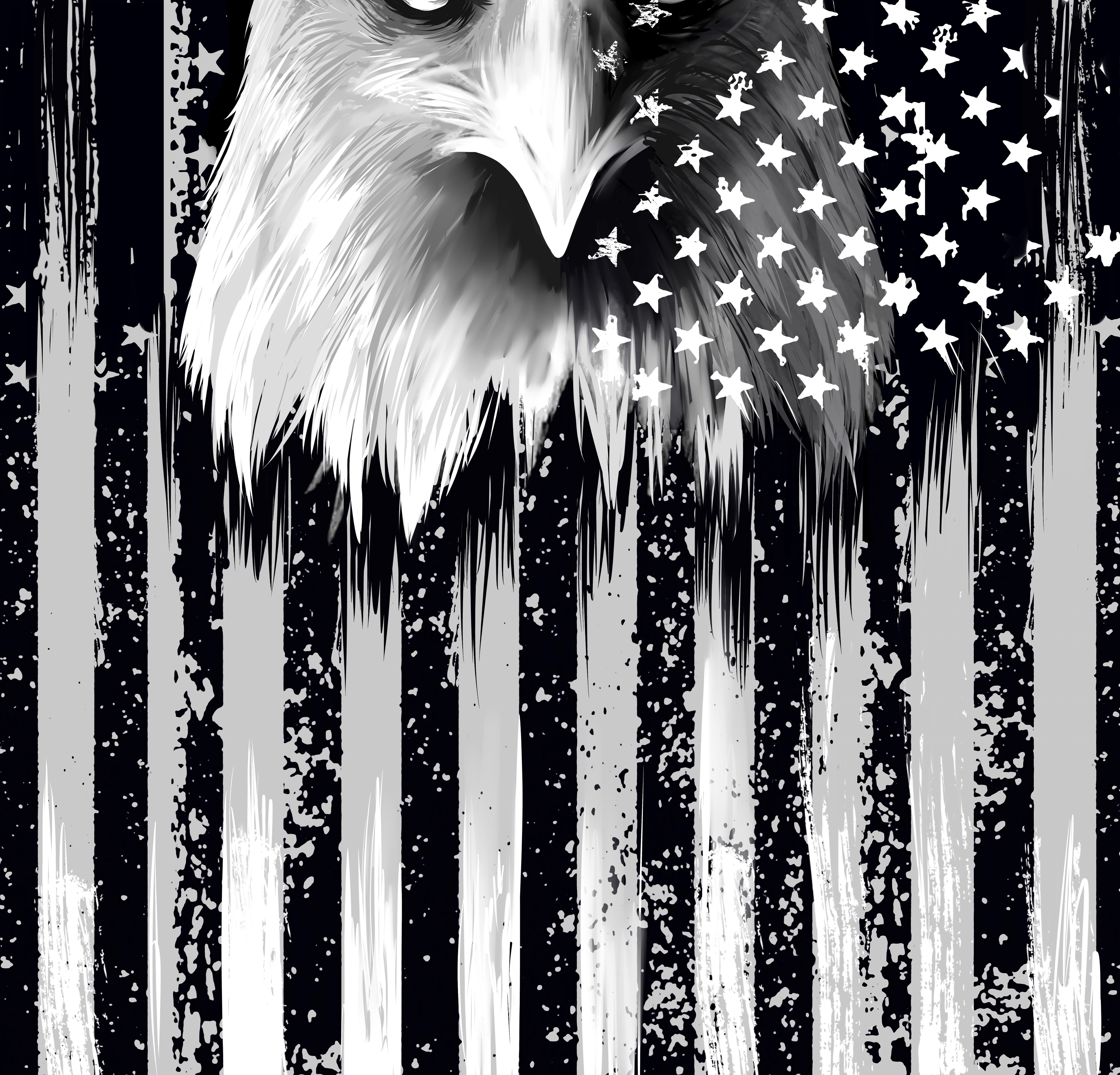 Patriotic American Tubular Bandana Protective Mask Design