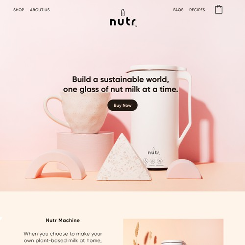 Nutr Shopify Webdesign