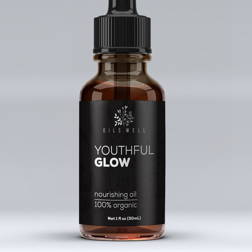 Product label for Youthful Glow
