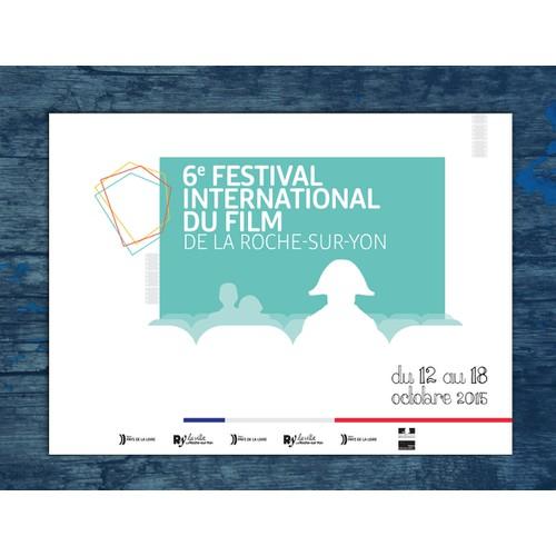 Create a MODERN poster for a French Film Festival - Créez une affiche pour le Festival du Film de La Roche-sur-Yon.