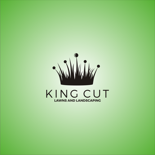 logo concept for king cut lawns