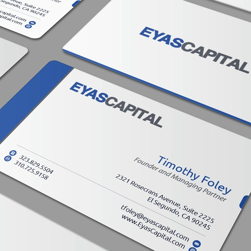 New business card wanted for Eyas Capital