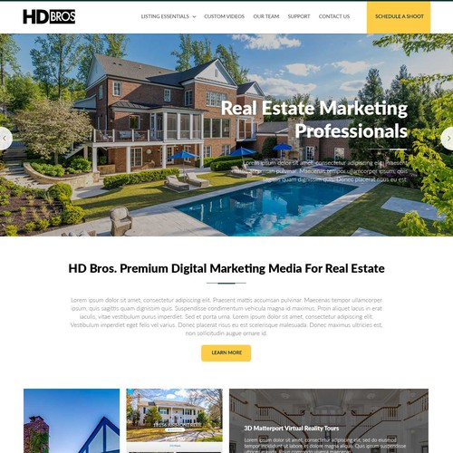 Website for Real Estate Photography Team