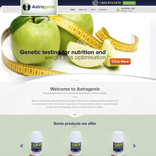 Website design for a genetics company