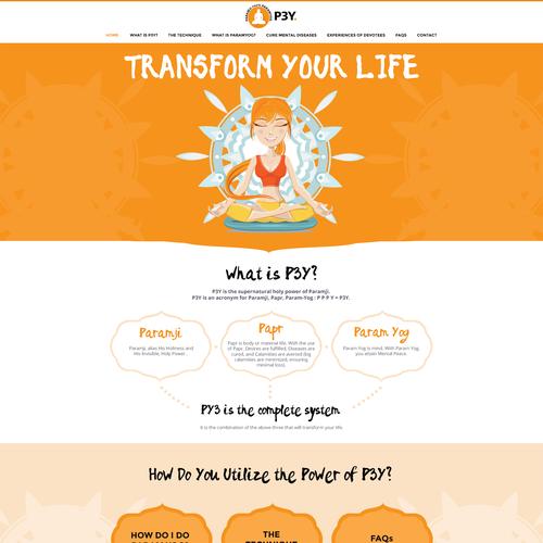 Flat Landing Page Design