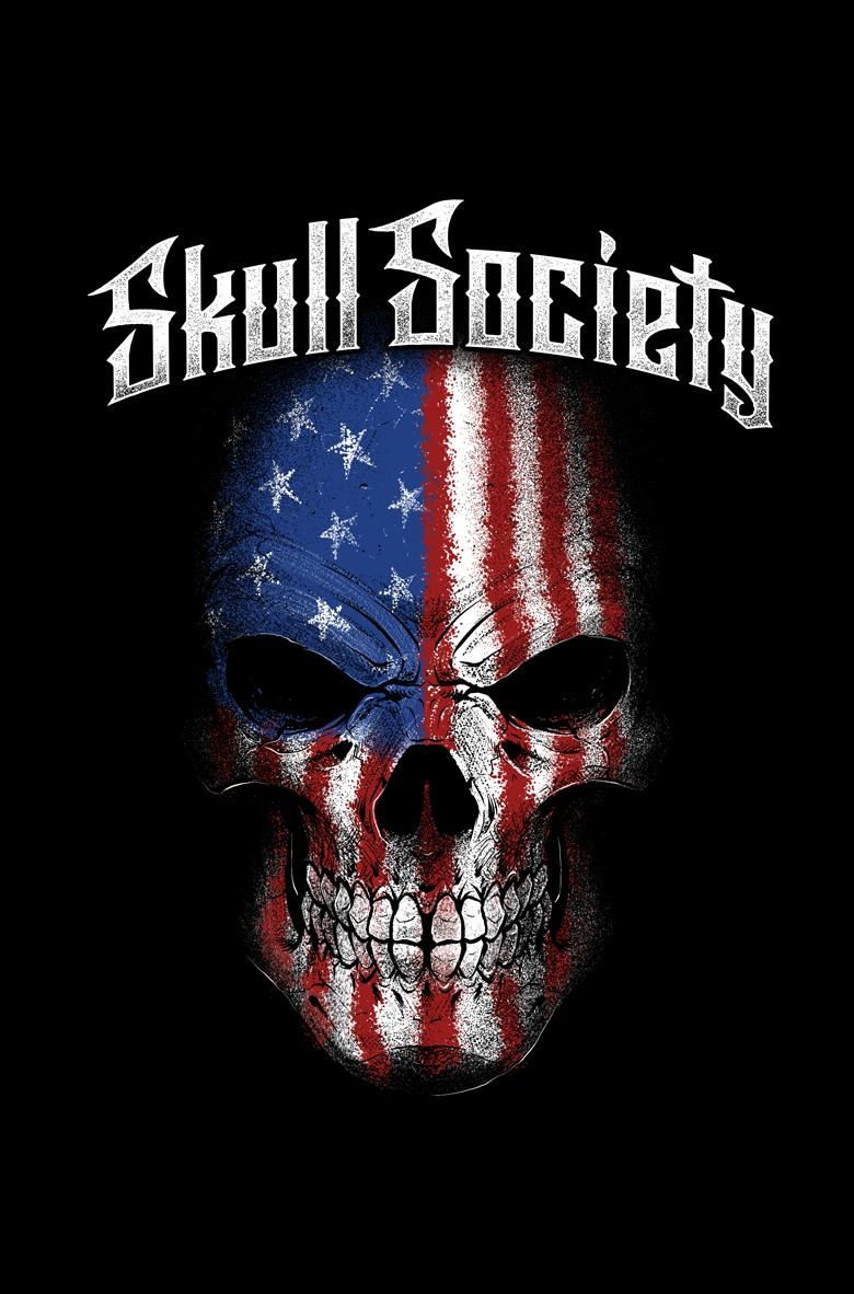 American Flag & Skull Design
