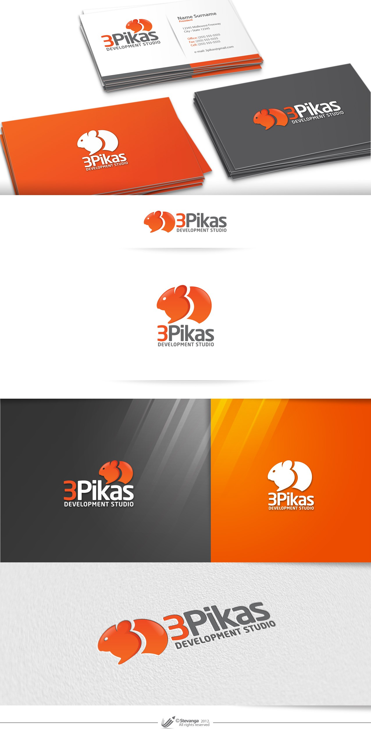 New logo and business card wanted for 3Pikas Development Studio
