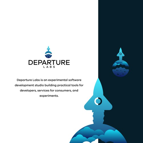 logo concept for DEPARTURE LABS