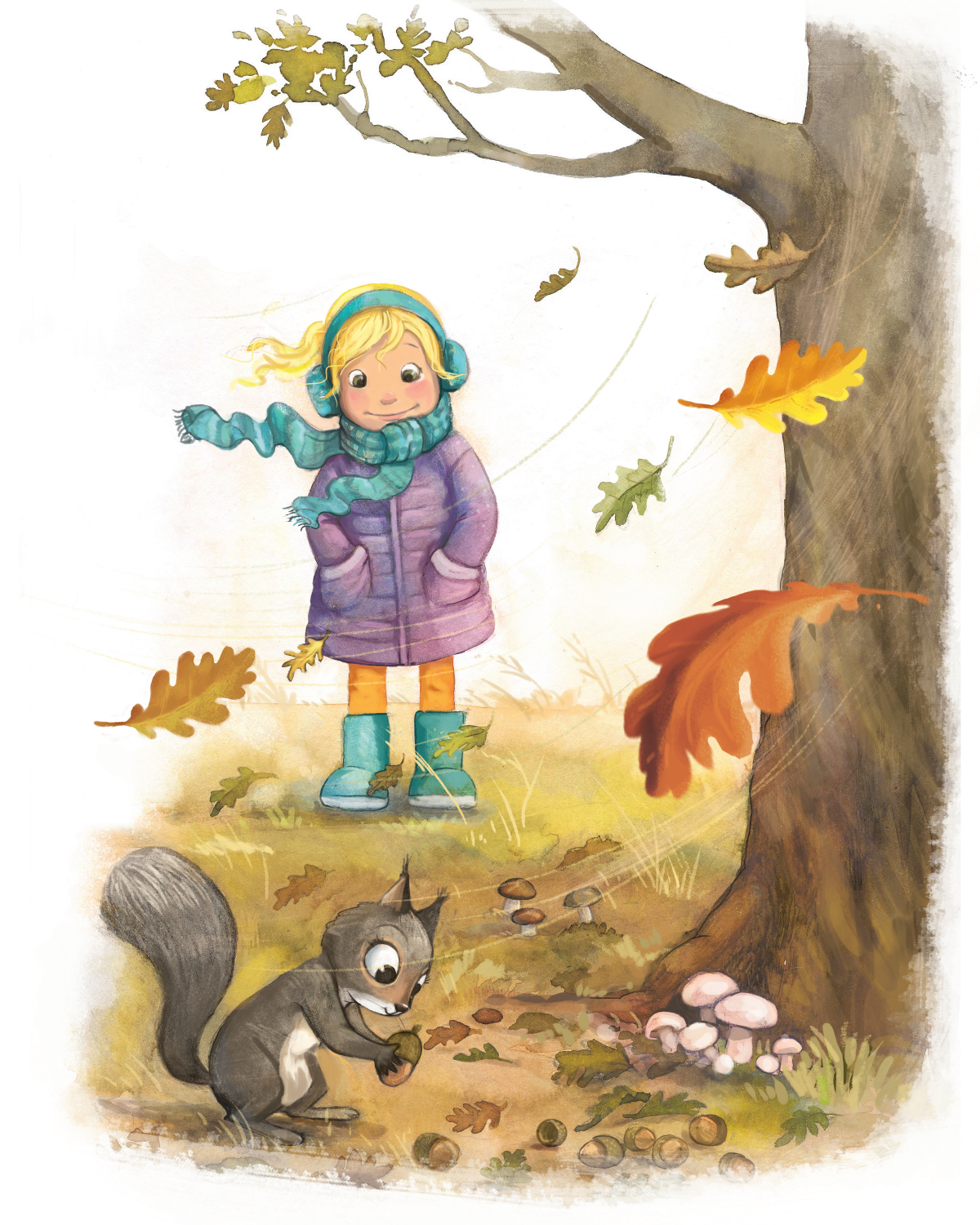 Illustrations for book about fairies