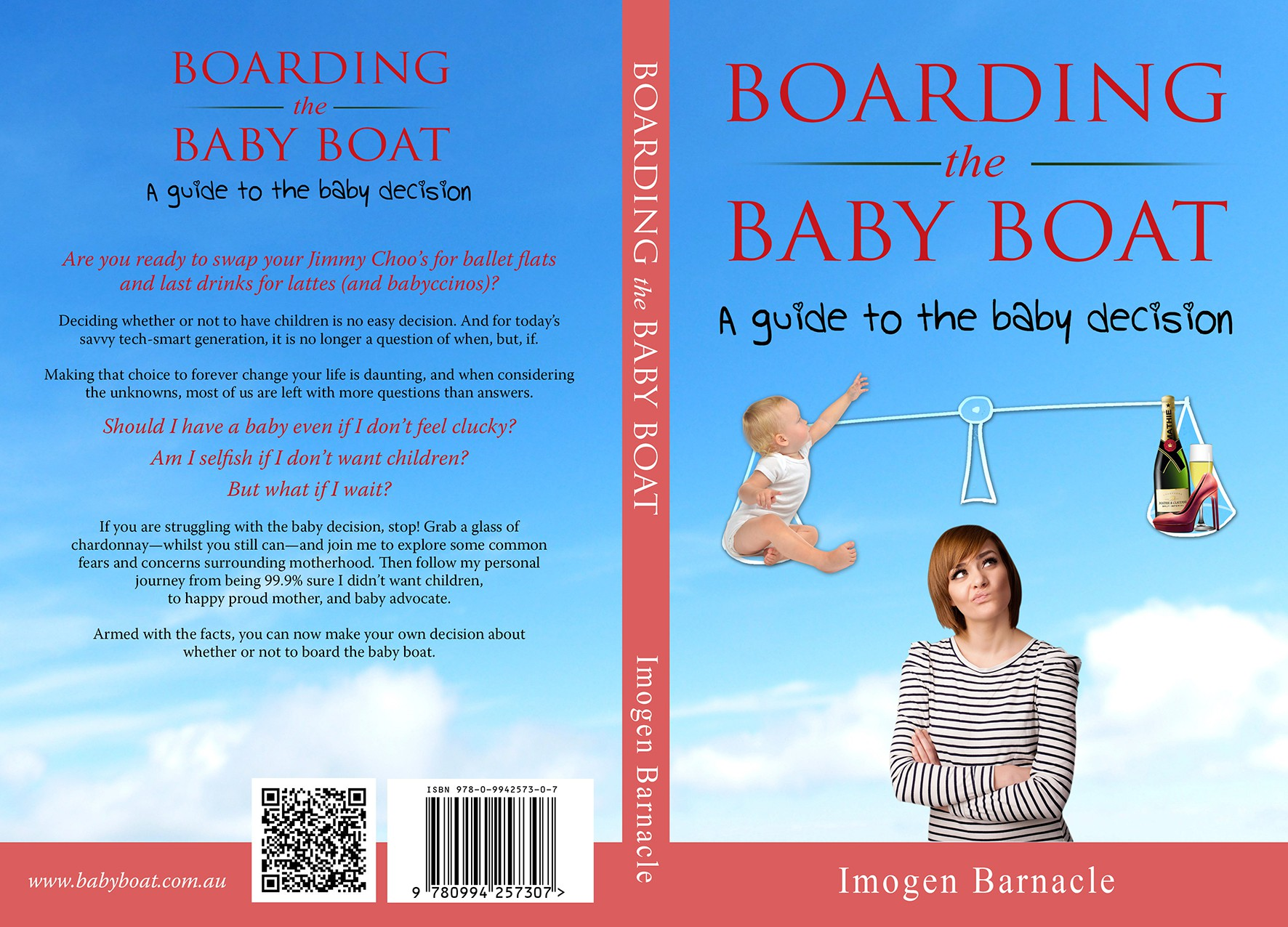 Create a modern, savvy, sophisticated design for women struggling with the baby decision