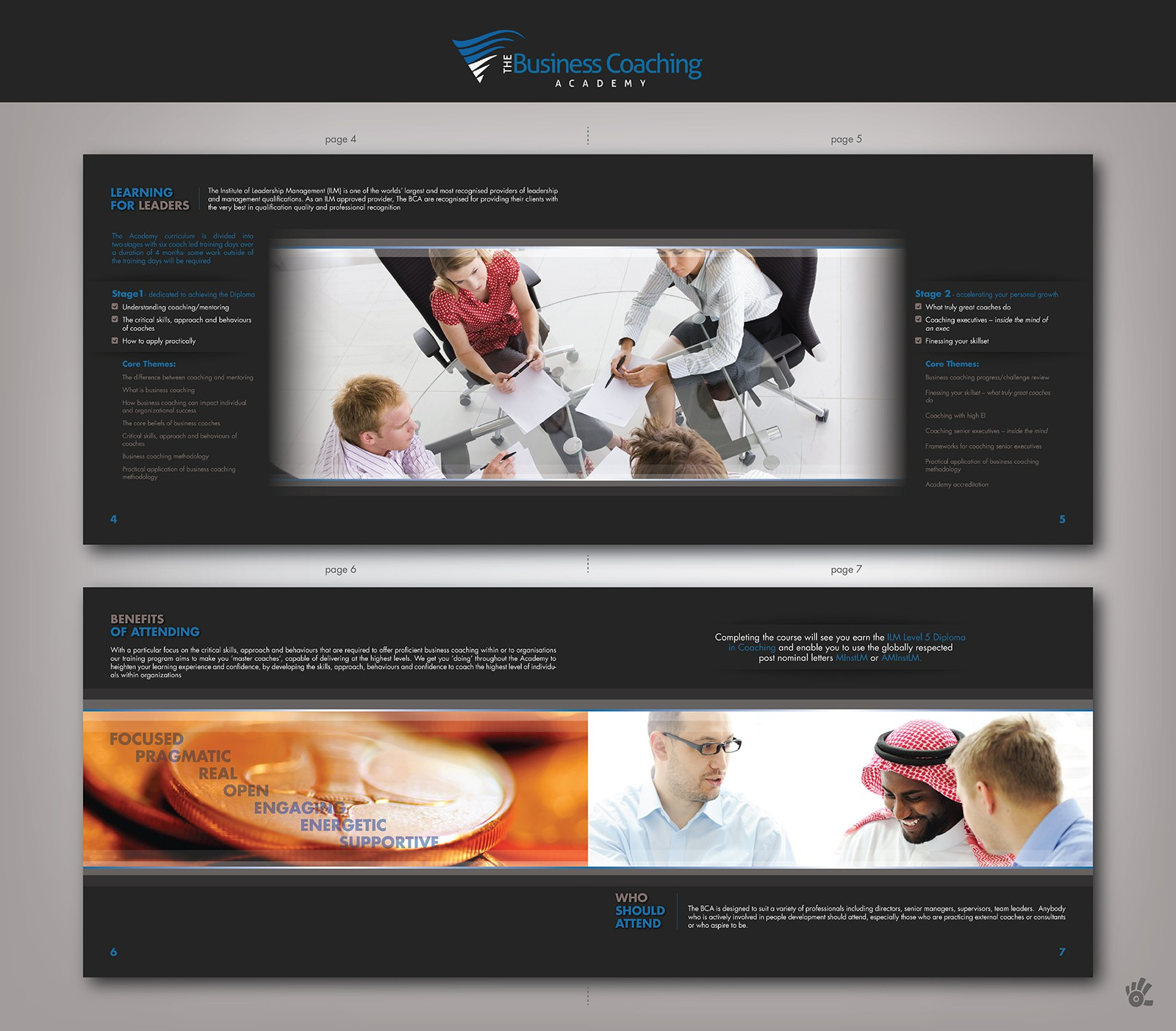 brochure design for The Business Coaching Academy