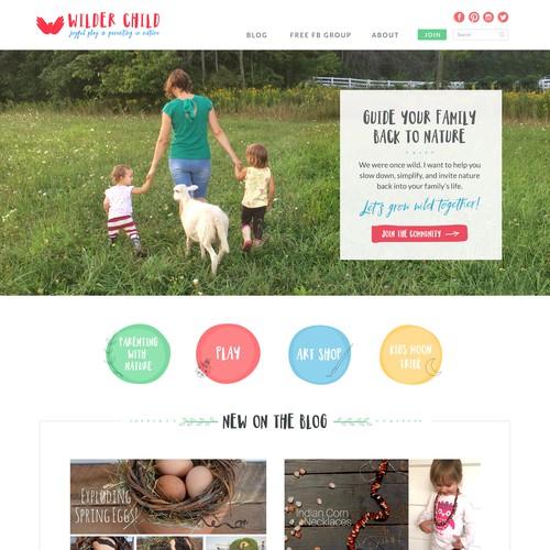 Homepage Design for Wilder Child