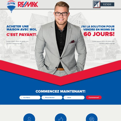 Landing page for Realtor