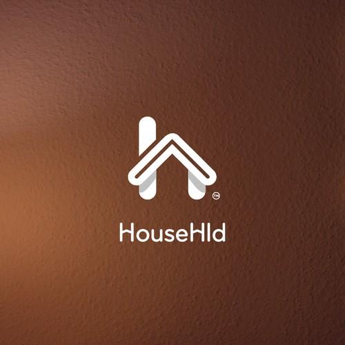 House logo with growth arrow