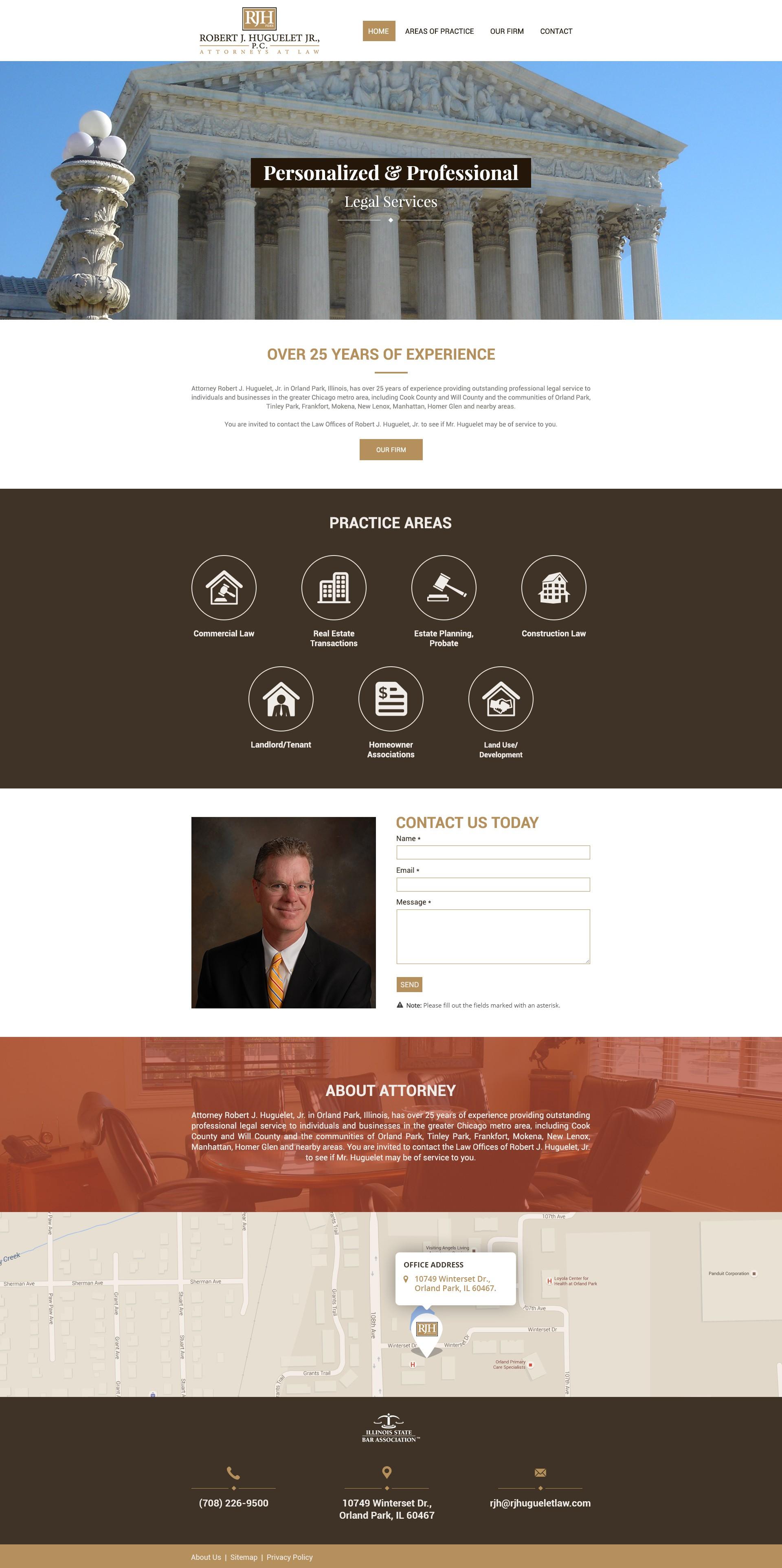 Finish a Jimdo Attorney Website