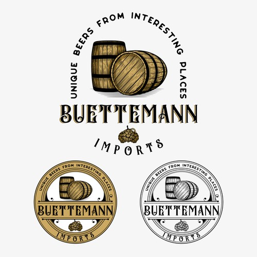 Buettemann Imports logo for beer