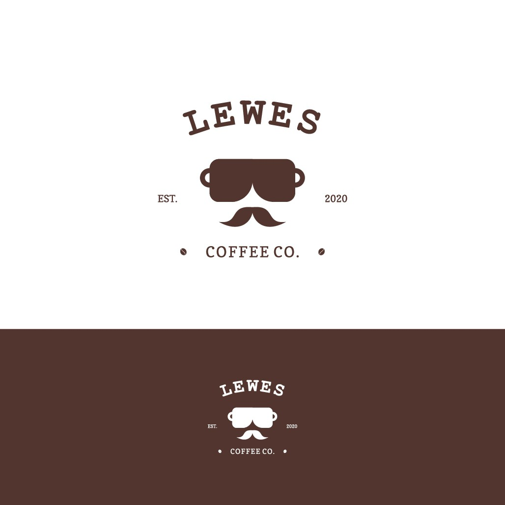 Design a hipster logo for a coffee shop in a historic beach town