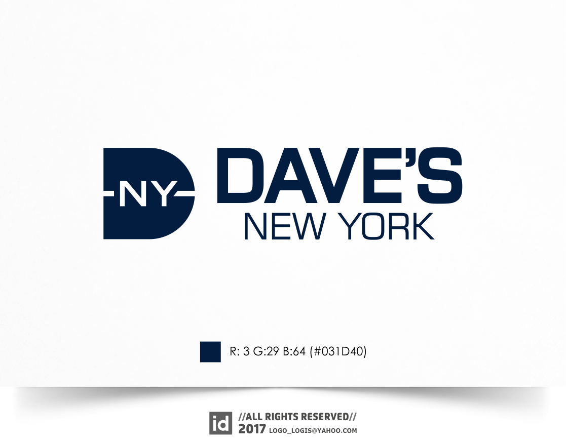 Design an iconic logo for Dave's New York, a 3rd generation NY retail institution