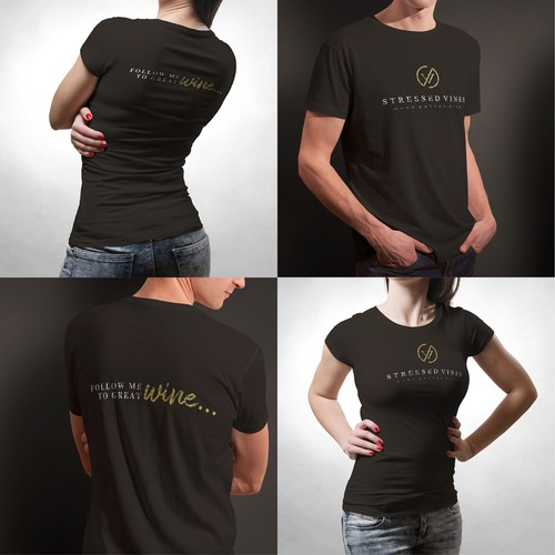 T-shirt Design for Wine Company