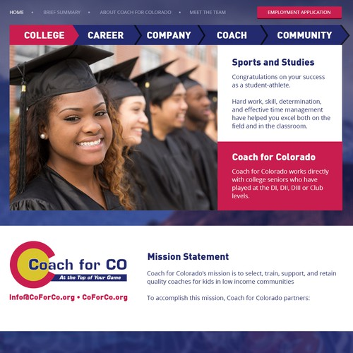 A non-profit, attract college students to get a job & to give back to their community