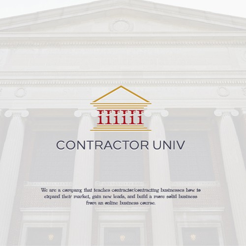 Pilar Contraction Logo ideas for Contractor Univ