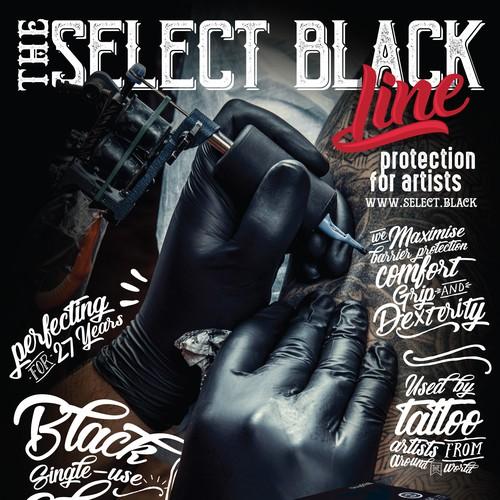 Select Black Magazine Ad Design