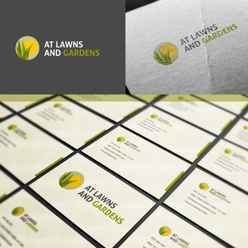 Logo Design for AT LAWNS AND GARDENS