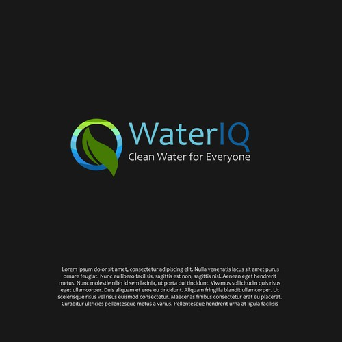 Logo concept for water purification company