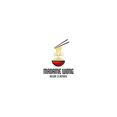 Playful logo for Madame Wong
