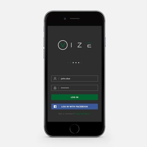 VIZE Mobile App design