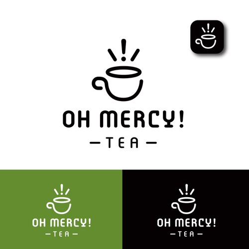 Bold logo concept for a tea company