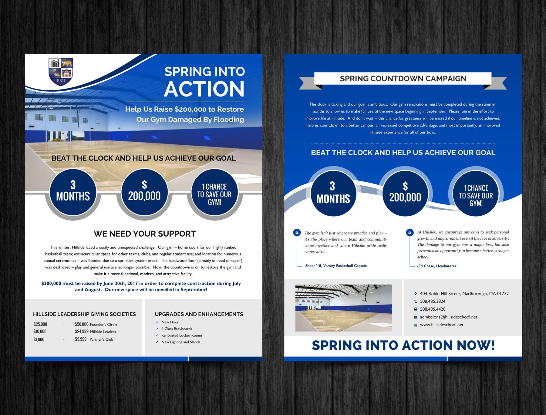 Hillside School Spring Countdown/New Gym Campaign Brochure