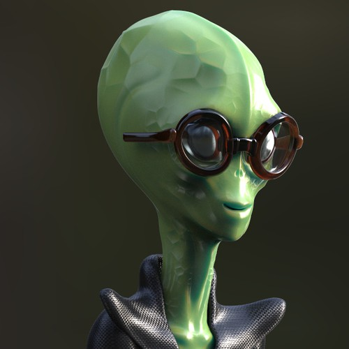 Alien main character design for a movie