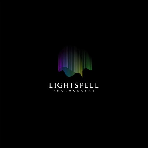 Portraying spell of light to a logo