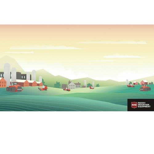 Illustration for banner or cover design