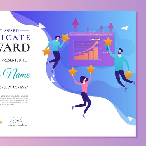 Colorful Certificate Design