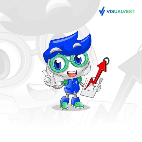 Mascot Design for VISUALVEST